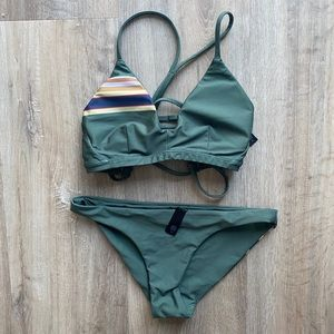 Hurley Army green bikini- worn once